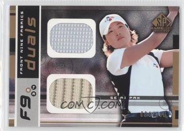 2003 SP Game Used Edition [???] #F9-SP - Se Ri Pak /100