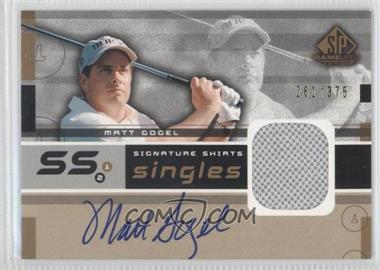 2003 SP Game Used Edition [???] #F9S-MG - Matt Gogel /375