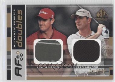 2003 SP Game Used Edition Authentic Fabrics Doubles #AFD-CP/PL - [Missing] /200