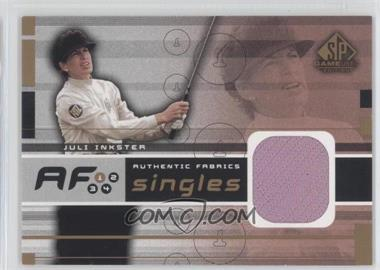 2003 SP Game Used Edition Authentic Fabrics Singles #AF-JI - Juli Inkster