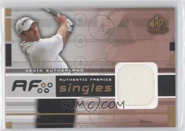 2003 SP Game Used Edition Authentic Fabrics Singles #AF-KS - Kevin Sutherland