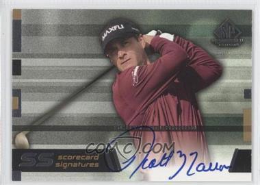 2003 SP Game Used Edition Scorecard Signatures #SS-SM - Scott McCarron