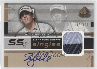 2003 SP Game Used Edition Signature Shirts Singles #F9S-BA - Billy Andrade /375