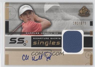 2003 SP Game Used Edition Signature Shirts Singles #F9S-CH - Charles Howell III /375