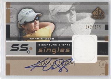 2003 SP Game Used Edition Signature Shirts Singles #F9S-KW - Karrie Webb /375
