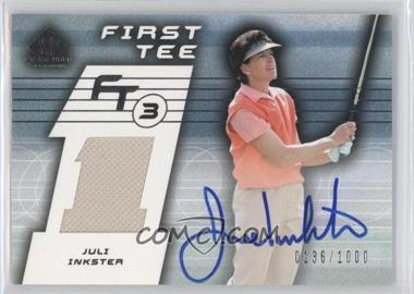 2003 SP Game Used Edition #78 - Juli Inkster /1000