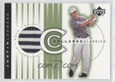 2003 Upper Deck - Collared Classics #CC-JL - Justin Leonard