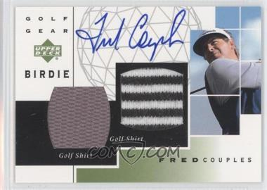 2003 Upper Deck Golf Gear Birdie Dual Materials Autograph #GB-FC - Fred Couples