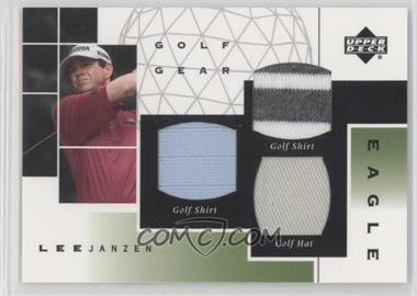 2003 Upper Deck Golf Gear Eagle Triple Materials #GE-LJ - Lee Janzen