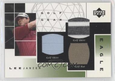 2003 Upper Deck Golf Gear Eagle Triple Materials #GE-N/A - Lee Janzen