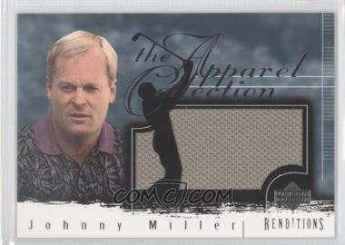 2003 Upper Deck Renditions Apparel Collection #AC-JM - Johnny Miller