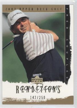 2003 Upper Deck Renditions Gold #34 - Fred Couples /250