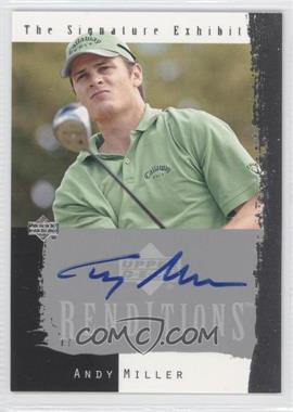 2003 Upper Deck Renditions The Signature Exhibit #N/A - Andy Miller