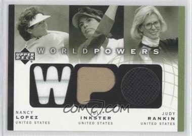 2003 Upper Deck World Powers Triple #WP3-3 - Nancy Lopez, Juli Inkster, Judy Rankin