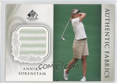 2004 SP Signature Authentic Fabrics #AF-AS - Annika Sorenstam