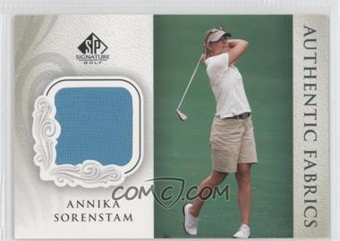 2004 SP Signature Authentic Fabrics #AF-AS - Annika Sorenstam