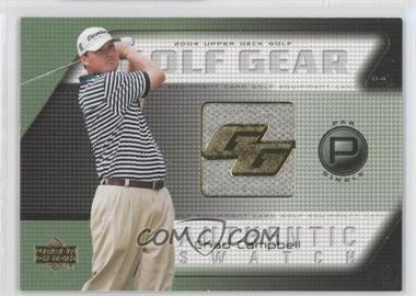 2004 Upper Deck Golf Gear Par Single #CC-GG - Chad Campbell