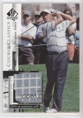 2005 SP Authentic - Course Classics Golf Shirts #CC24 - Stephen Ames