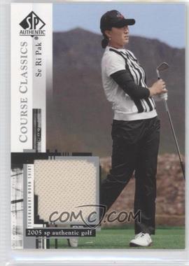 2005 SP Authentic Course Classics Golf Shirts #CC2 - Se Ri Pak