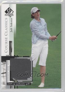 2005 SP Authentic Course Classics Golf Shirts #CC5 - Juli Inkster