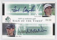 Fred Couples, Mike Weir /50