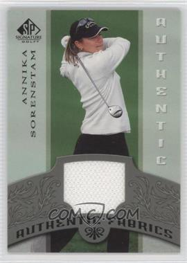 2005 SP Signature Authentic Fabrics #AF-AS - Annika Sorenstam