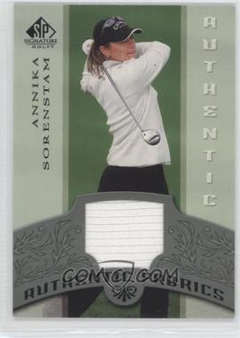 2005 SP Signature Authentic Fabrics #AF-AS - Annika Sorenstam