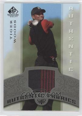 2005 SP Signature Authentic Fabrics #AF-TW - Tiger Woods
