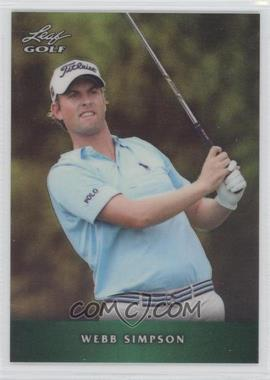 2012 Leaf Metal - [Base] - Green Prismatic #M-1 - Webb Simpson /25