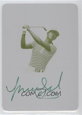 2012 Leaf Metal Autographs Printing Plate Yellow #BA-N/A - Michelle Wie /1