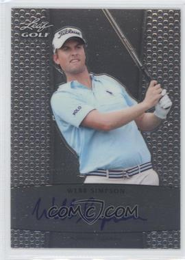 2012 Leaf Metal Autographs #BA-WS1 - Webb Simpson