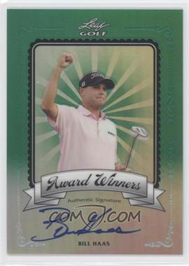 2012 Leaf Metal Award Winners Green Prismatic #AW-BH1 - Bill Haas /25
