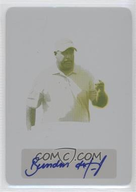 2012 Leaf Metal Award Winners Printing Plate Yellow #AW-BDJ - Brendon de Jonge /1
