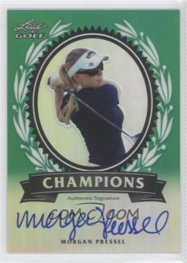 2012 Leaf Metal Champions Green Prismatic #CH-1 - Morgan Pressel /25