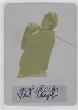 2012 Leaf Metal Printing Plate Yellow [Autographed] #BA-FC1 - Fred Couples /1