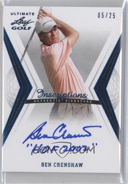 2012 Leaf Ultimate - [Base] - Blue Inscriptions #BA-BC2 - Ben Crenshaw /25