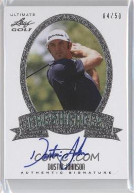 2012 Leaf Ultimate Fresh Faces Silver #FF-DJ1 - Dustin Johnson /50