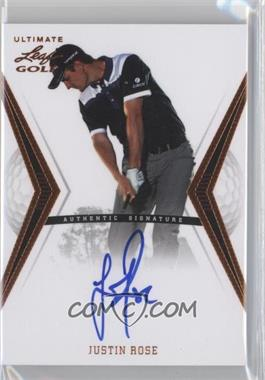 2012 Leaf Ultimate #BA-JR1 - Justin Rose