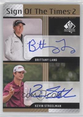 2012 SP Authentic - Sign of the Times 2 #ST2-DUKE - Brittany Lang, Kevin Streelman