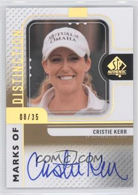 2012 SP Authentic Marks of Distinction #MD-CK - Cristie Kerr /35