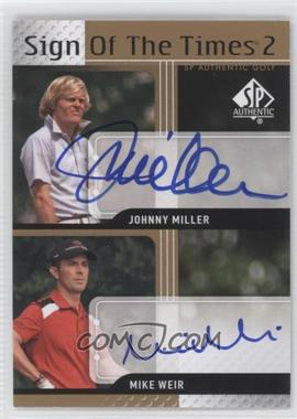2012 SP Authentic Sign of the Times 2 #ST2-BYU - Mike Weir, Johnny Miller