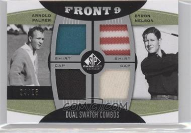 2012 SP Game Used Edition - Front 9 Fabric Dual Swatch Combos #FD-PN - Arnold Palmer