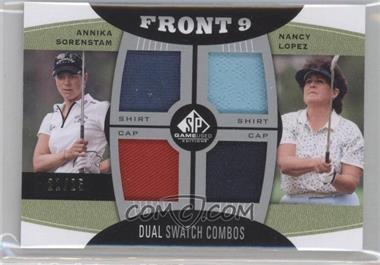 2012 SP Game Used Edition Front 9 Fabric Dual Swatch Combos #FD-SL - Annika Sorenstam, Nancy Lopez /25