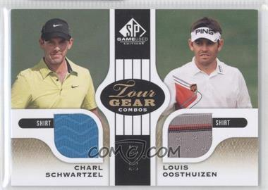 2012 SP Game Used Edition Tour Gear Combos Gold Shirts #TG2-RSA - Charl Schwartzel, Louis Oosthuizen /35