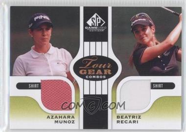 2012 SP Game Used Edition Tour Gear Combos Green Shirts #TG2-ESP - Azahara Munoz, Beatriz Recari