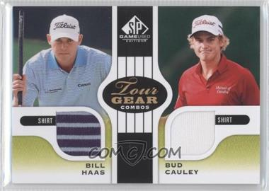 2012 SP Game Used Edition Tour Gear Combos Green Shirts #TG2 HC - Bill Haas, Bud Cauley /35