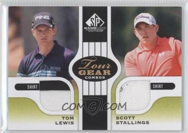 2012 SP Game Used Edition Tour Gear Combos Green Shirts #TG2-LS - Tom Lewis, Scott Stallings