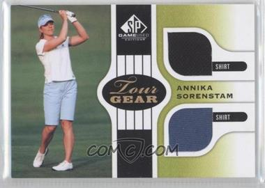 2012 SP Game Used Edition Tour Gear Green Shirts #TG AS - Annika Sorenstam