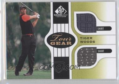 2012 SP Game Used Edition Tour Gear Green Shirts #TG TW - Tiger Woods