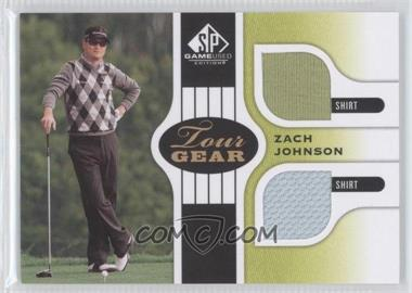 2012 SP Game Used Edition Tour Gear Green Shirts #TG ZJ - Zach Johnson